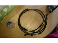 Hel performance braided brake lines, Z1000 2014 2017, non abs
