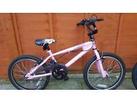 girls 20inch wheel bike used but loads of life left in it