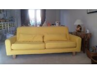 Ikea Nikkala 3 Seater Sofa with Yellow Covers