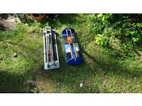 Job lots 2 tile cutter one is Clarke, cut most types of ceramic tiles. Cuts up to 405 mm x 16 mm