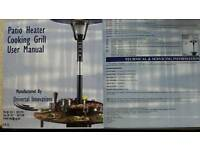 Patio heater cooking grill