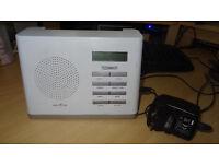 TECHNIKA DAB-207 DAB Digital RADIO - mains (can also use batteries) - white