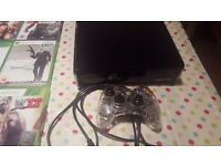 Xbox 360 console with controller and 23 games includes COD, WWE and FIFA