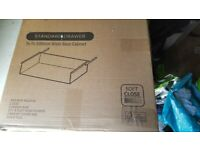B & Q Standard Drawer Pack x2 for 500mm Wide Base Cabinet