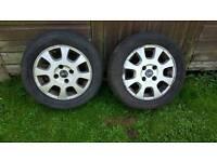 2 x 16 inch volvo alloy wheels