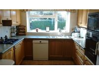Used kitchen units in good condition and appliances in working order