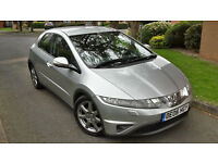 2006 HONDA CIVIC 2.2 I-CTDI SPORT 5 DOOR,LOW MILEAGE,6 SPEED,VERY GOOD COND.