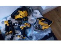 DEWALT 18 VOLTS SKILL SAW jigsaw 3 speed hammer drill torch. Charger