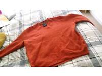 (Both for £7) two designer mens size large jumpers (originally size xxl -shrunk!)