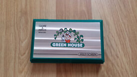 GREEN HOUSE GAME & WATCH MULTI SCREEN (COLLECTORS) 1982 w/batteries