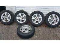 MITSUBISHI GENUINE 16 '' alloy wheels + 5 x tyres 215 65 R 16 ''