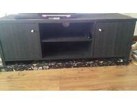 Black Wood TV cabinet.