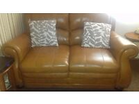two x two full leather sofas perfect condition