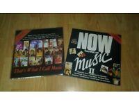 now that's what i call music - rare no 1 / no 2 - vinyl LP's
