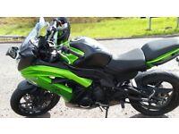 Kawasaki ER6F - 2014 plate 10,000 miles.