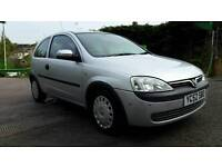 Vauxhall corsa club 2002 reg 1.2.16v.petrol 83.000 miles 11 months mot economic car start and drive