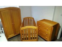 Mamas and Papas nursery furniture set.