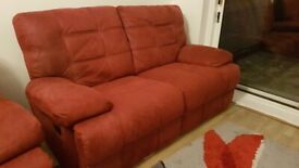 Recliner chair and sofa