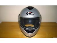 Silver 'Airoh' PR2000 Helmet with flip up Helmet with Open face flip option - Never dropped