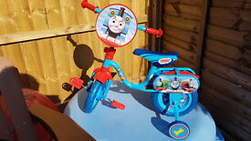 "Thomas & Friends 10"" Kids' Bike with Stabilisers - used"