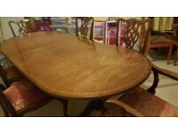 Reproduction Chippendale Dining Table and Chairs