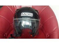 black motor cycle helmet