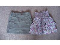 2 skirts 5-6 years
