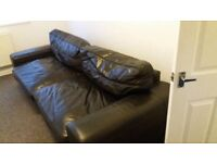 Leather sofa excellent condition