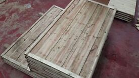 🌟Superb Quality Heavy Duty Waneylap Timber Fence Panels 8mm Boards