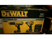 Brand new DeWalt 18 volt lithium mass combo set