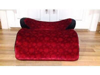 brand new child's velour car booster seat suitable for children aged from 4 up to 12 years old