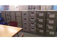 Metal four drawer filing units