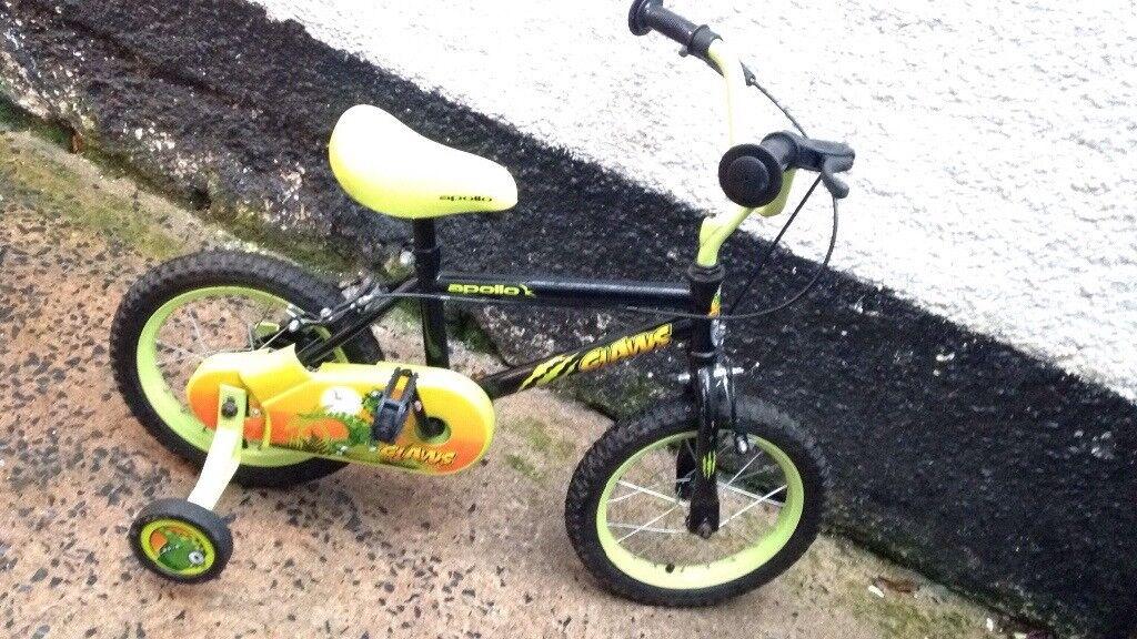 Kids 14 inch wheel Apollo bike !!
