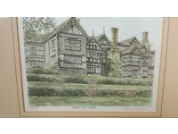 Limited edition watercolour of Bramhall Hall