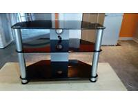 TV Stand, glass, very good condition, 70cm wide 50cm high, 36cm deep