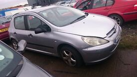 2001 PEUGEOT 307, 2LT HDI, BREAKING FOR PARTS ONLY, POSTAGE AVAILABLE NATIONWIDE