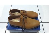 brand new mens tan lace up shoes size 8