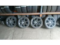 SET OF (4) 19'' AUDI RS4/TTRS ALLOY WHEELS in antharcite grey
