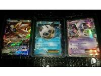 £10 if collected today!!solgaleo gx,mewtwo ex,glalie ex pokemon cards