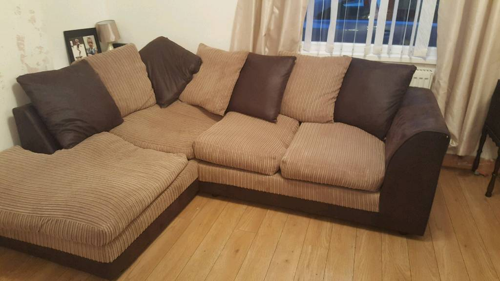 Corner sofa and swivel chair