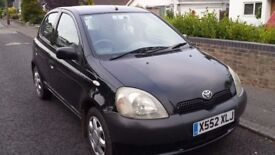 TOYOTA YARIS 2001 1 litre. Great condition. Great town car or first car.