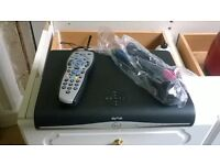 sky hd wireless box with remote and leads