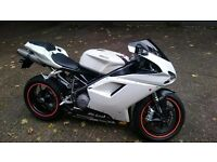 2008 Ducati 848 white, Just had Major service (belts, valves, chassis check)