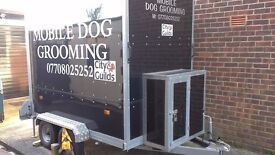 Dog grooming trailer,750 kgs double axel interior light ,ceiling vents,interior bath.