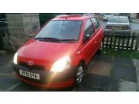 Toyota yaris 1.0 4 door red