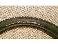 "Continental Mountain king 29"" 2.2 mountain bike tyre"
