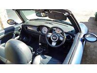 2006 (56) BMW Mini 1.6 Cooper Convertible Metallic Blue Full Leather & Chilli Pack