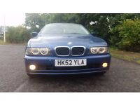 2003, BMW 525, PETROL, MANUAL, FULL SERVICE HISTORY, 10 MONTH MOT, ANGEL EYES , SUN ROOF,