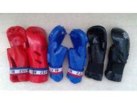 Martial arts hand protectors (£5 per pair)