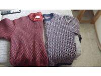 2 Genuine Norwegian knitted jumpers